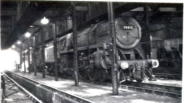 Oliver Cromwell in storage at March sheds ! January 1964