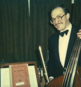 Joe Mason plays the double bass
