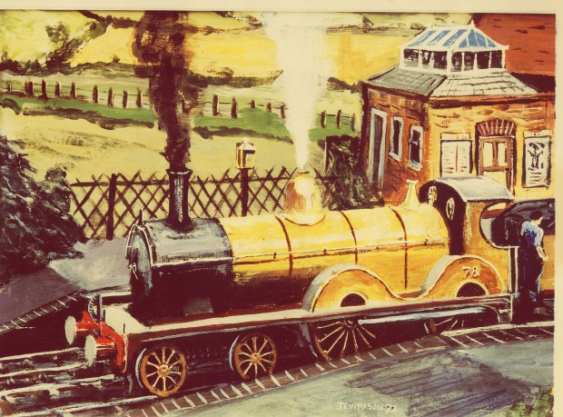The yellow locomotive livery was a distinctive part of the M&GN.