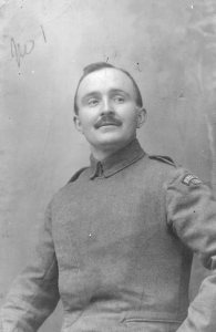 C. E Rivett in the uniform of the RFC