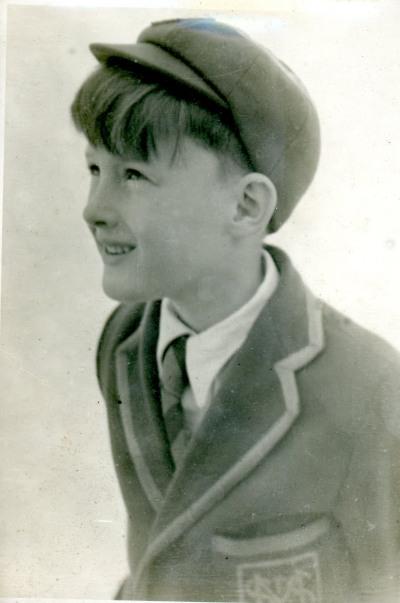 JM as a boy in St Msry's school uniform