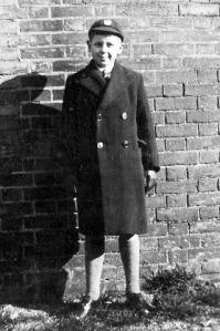Basil Kybird in Bungay Grammar School Uniform.