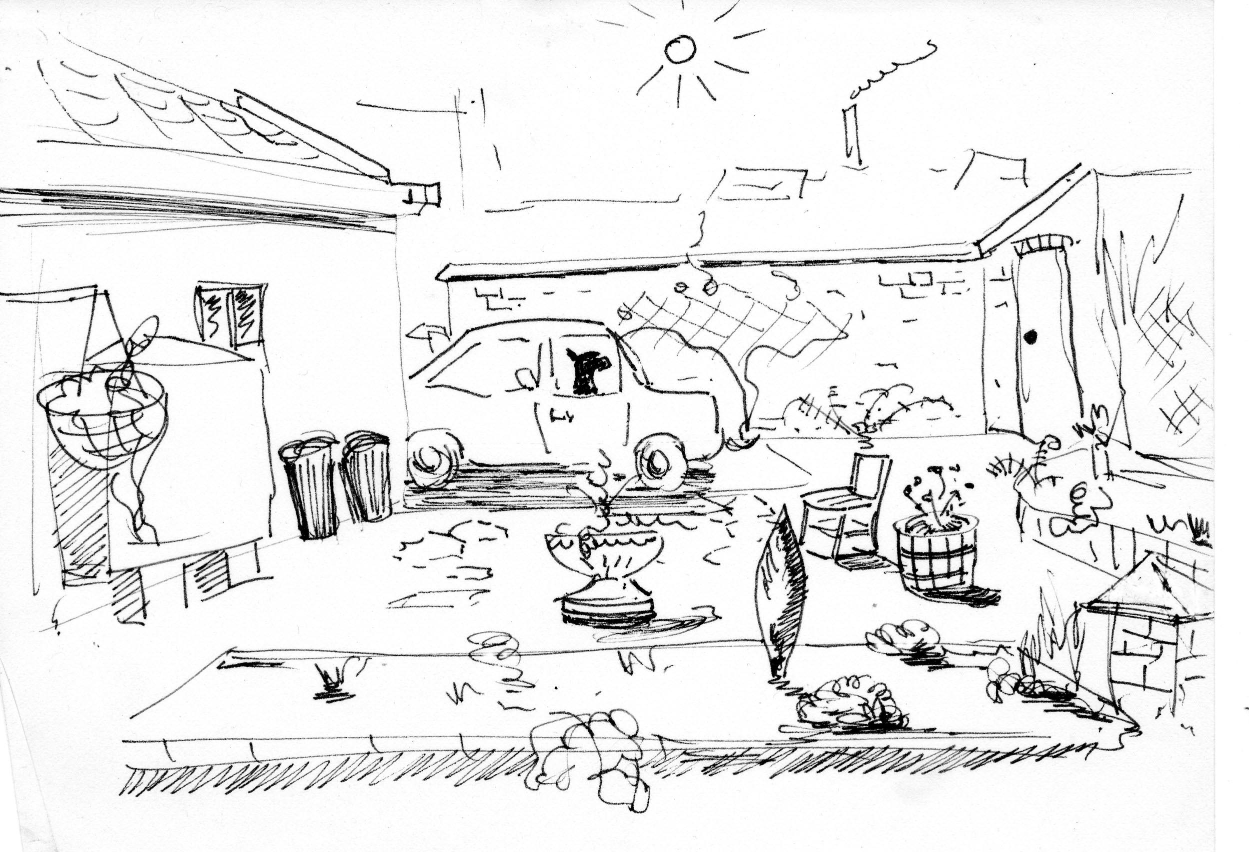 joemasonspage the blog for memories of east anglia page 77 Bakelite Furniture Handles an oasis of calm in the city centre this drawing was made in about 1980 with my dog fido sitting in my fiat 127 the yard was paved with hexagonal tiles