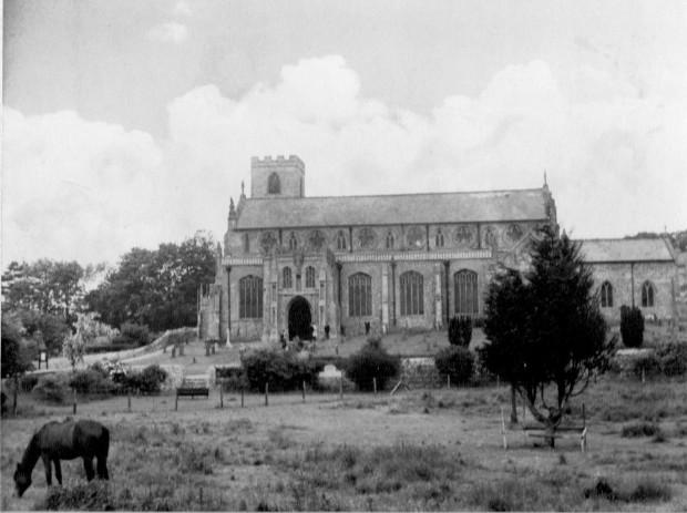 Cley church,