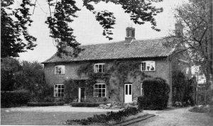 Nurse Edith Cavell,s home facing Swardeston Common.