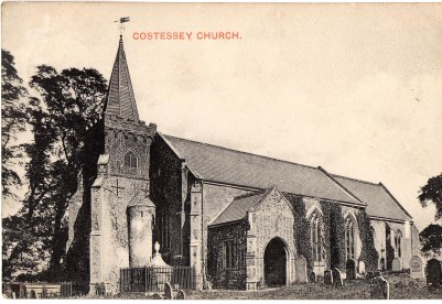 Costessey church, where Richard & Rose Margaret were married