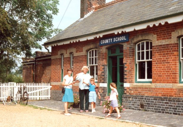 County School; the station is on the Mid Norfolk Rly, but has no train services.