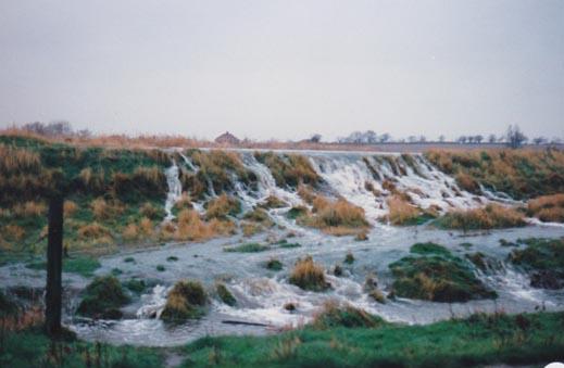 The river Chet burst its banks.