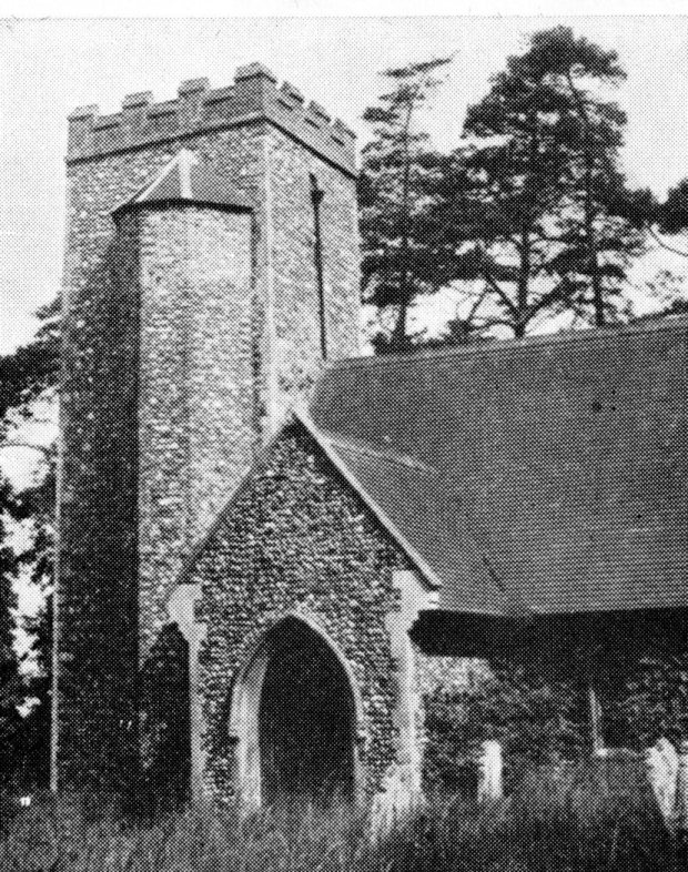 Bixley church in happier times, 60 years ago.