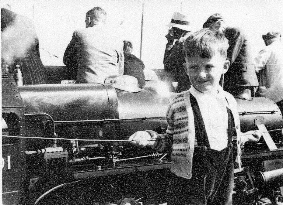 Me and a Black 5, Lowestoft Beach, 1952