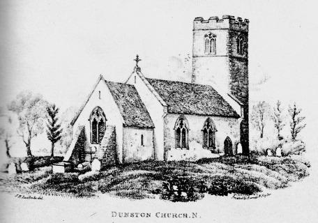 DUNSTON CHURCH  by John Berney Ladbrooke