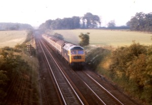 London bound train at Dunston, before electrification.