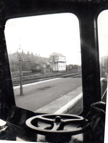 Diesel Multiple Unit at Dereham Station, ABOUT 1958.