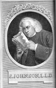 Dr Johnson 1709-1784, famous tea drinker.