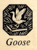 Gooses's logo; what do the initials signify?