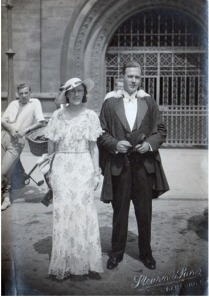 Tony Rivett (ex-Hammond's Grammar School) on his graduating from Pembroke college, Cambridge before W.W.2. With my mother Joan Rivett, his sister.