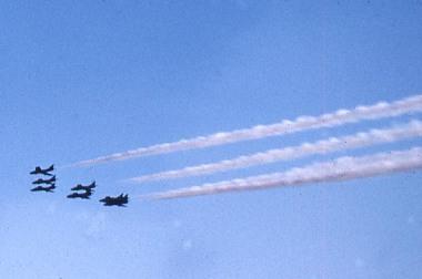 The Black Arrows flying over RAF Marha.c1960