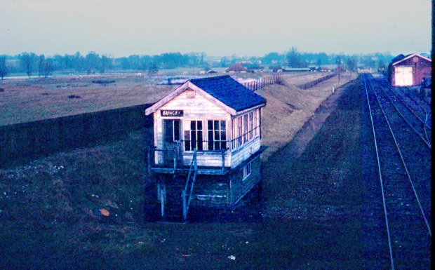 The abandoned signal box.