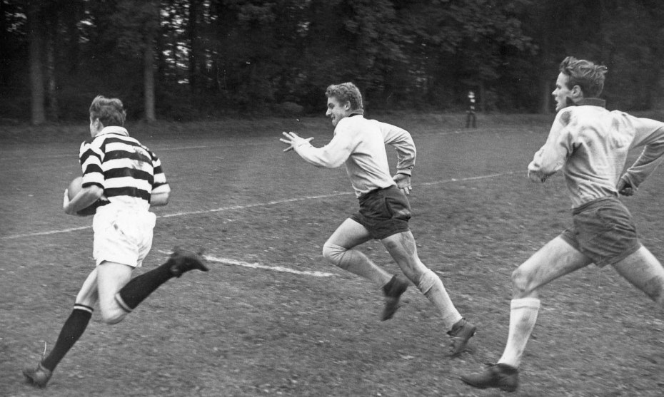 Peter Fargus scores a try for the 1st XV, 1967.
