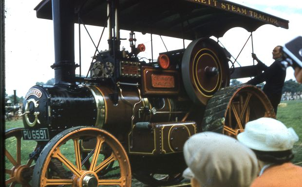 A 'furriner'; this traction engine was made in Suffolk by Garretts of Leiston.