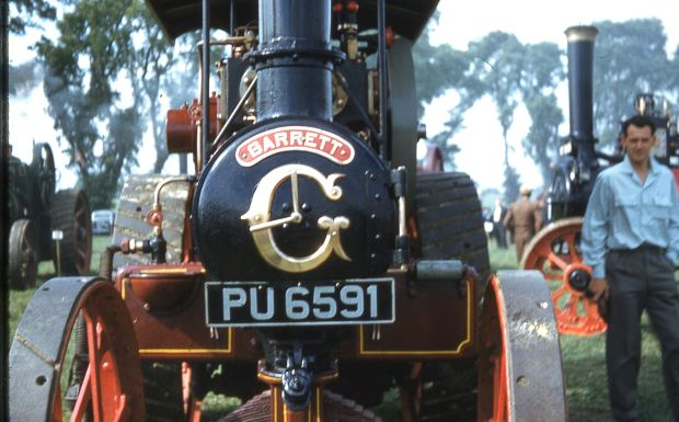 A GARRETT traction engine.