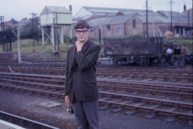 Me at Melton Constable station aged 14.