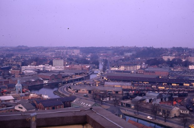 Looking north east to Foundry Bridge, 1971