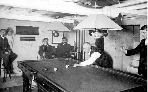 Cawston billiard room was in basement under the reading room.