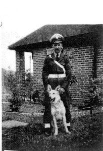 RAF dog handler, the Guard Room, Stoke.