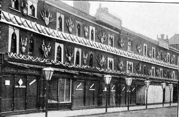 Curl Brothers, Rampant Horse Street, decorated for Queen Victoria's Diamond Jubilee.
