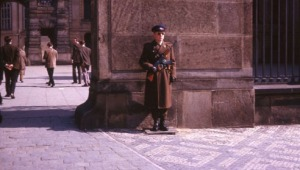 Communist Europe; plenty of armed guards (Prague).