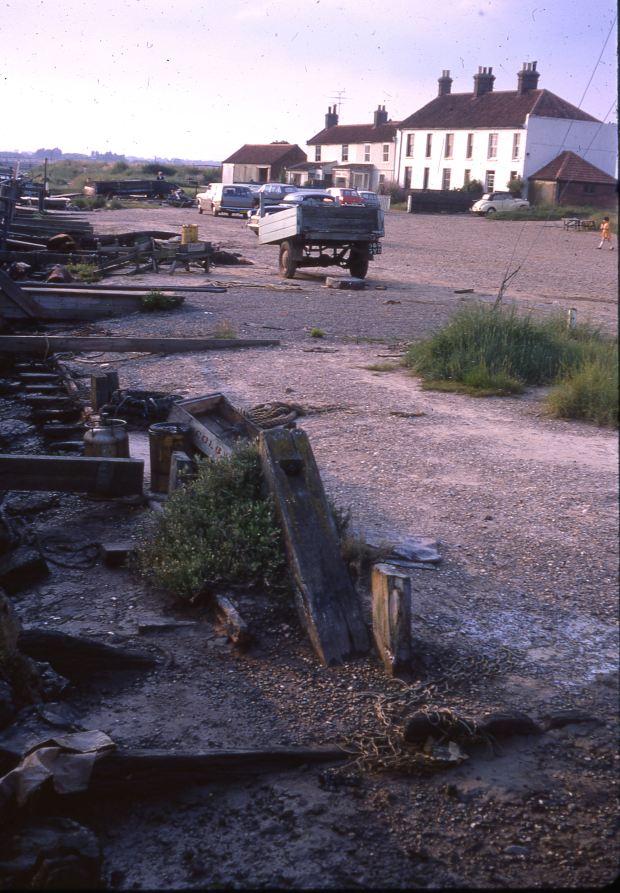 The Southwold Railway siding at Blackshore, 1969.