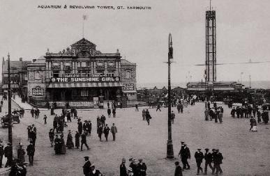 THE ROYAL AQUARIUM THEATRE, GREAT YARMOUTH c 1900
