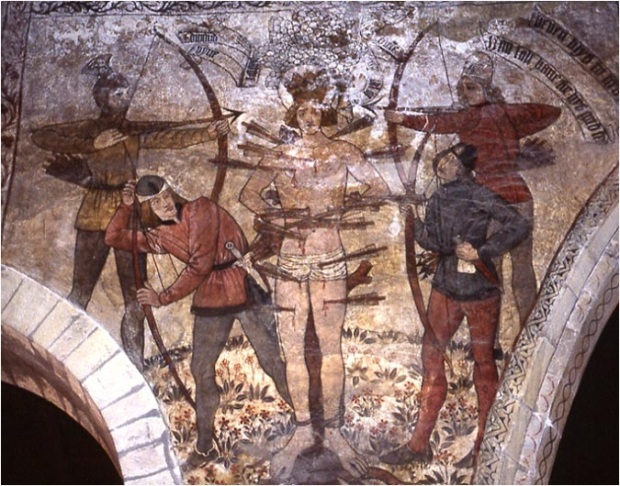 Late medieval wall painting, Pickering church, N. Yorks