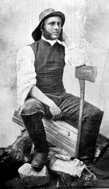 The Rev John Sheepshanks as a young pioneer in Western Canada