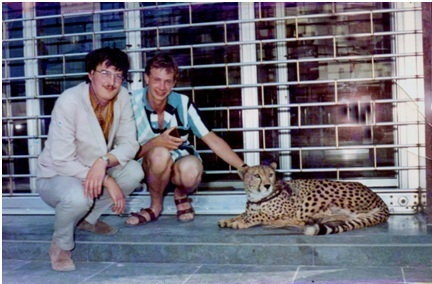 Joe Mason and Bill Wragge, Rimini 1968.