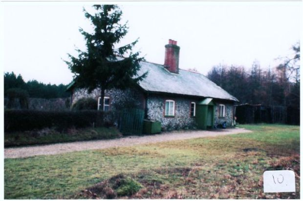 The cottage on Holt Heath where Basil Kybird was born.
