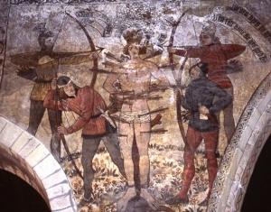 St Edmund and the Vikings, Pickering church, North Yorkshire