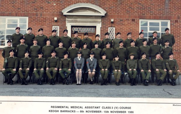 Private Mason RAMC(TA) is one from the left on the back row.