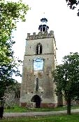 Shipdam church tower with its attractive lantern