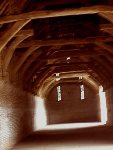 Interior of Paston barn