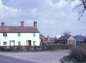 Cottage on the corner of Seething Road, 1970