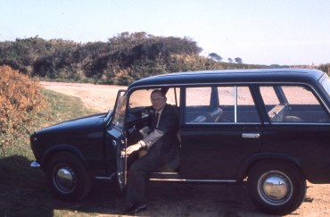 Family car on Kelling Heath, 1977.