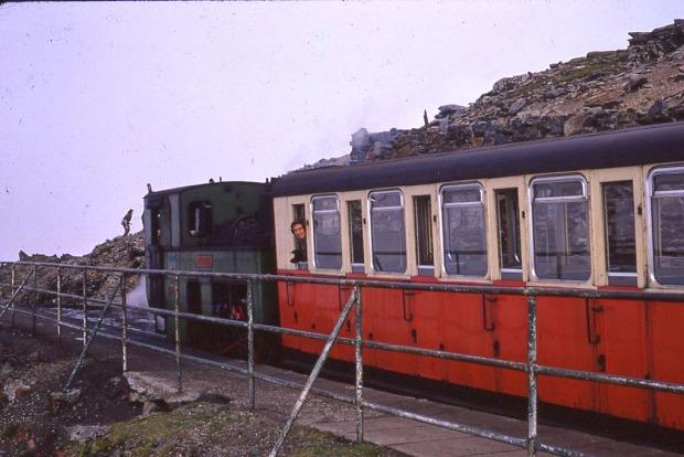 Snowdon Railwat at the summit.