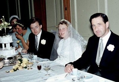 THE ASSEMBLY HOUSE 1959 Right to Left. David Moody, Best Man, The Bride and Groom, my sister Margaret, Bridesmaid.