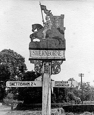 Shernborne village sign