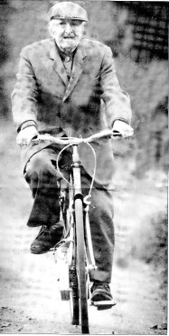 Fred Barnes on his electric bike.
