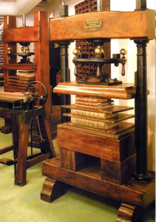 A book binding press