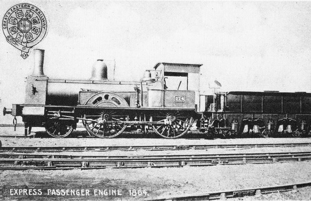 A GER 4-4-0 of 1864.