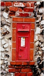 Victorian letter box at Spixworth